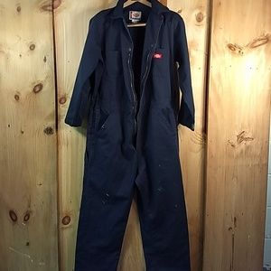 Preowned Dickie Coveralls L-Reg Long Sleeve Zip Up